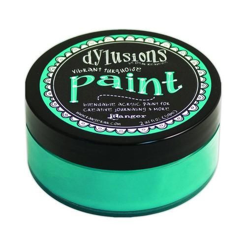 Ranger Dylusions Paint 59 ml - vibrant turquoise DYP46042