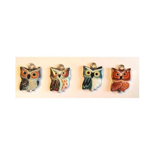 Metal Charms, Mini Owls