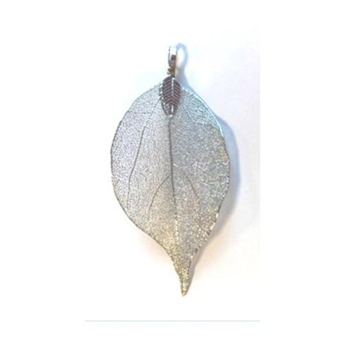 Natural Leaf with Hanger, Platinum