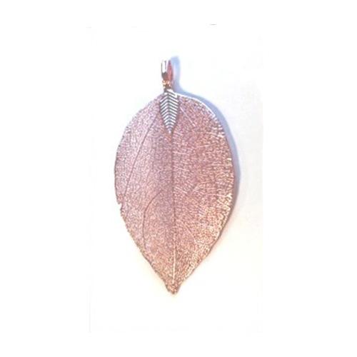 Natural Leaf with Hanger, Pink