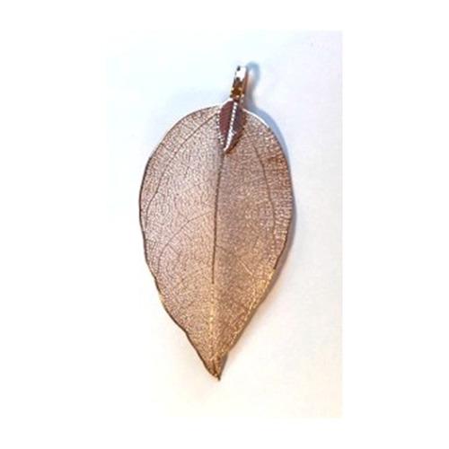 Natural Leaf with Hanger, Rose Gold