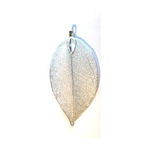 Natural Leaf with Hanger, Silver