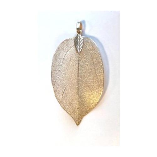Natural Leaf with Hanger, Gold