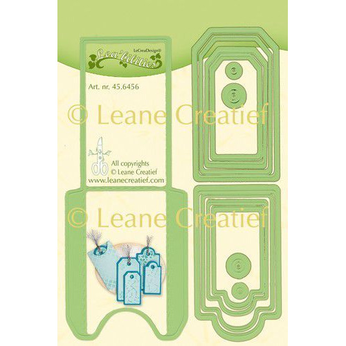 LeCrea - Leabilitie Pocket & Labels snij en embossing mal 45.6456 (01-20)