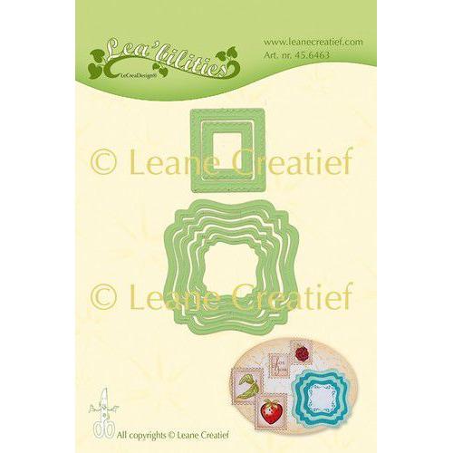 LeCrea - Leabilitie Frames swirl & postzegels snij emboss. mal 45.6463 (01-20)