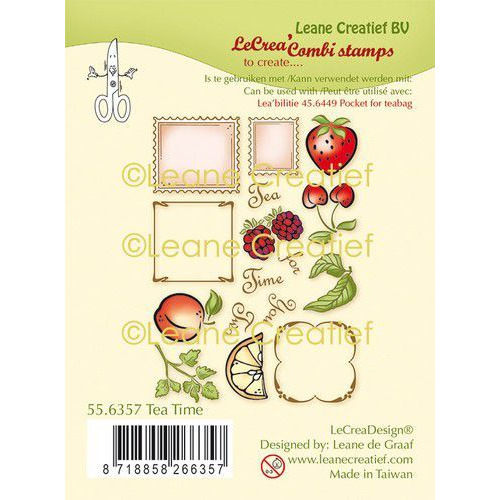 LeCrea - clear stamp combi Thee tijd 55.6357 (01-20)
