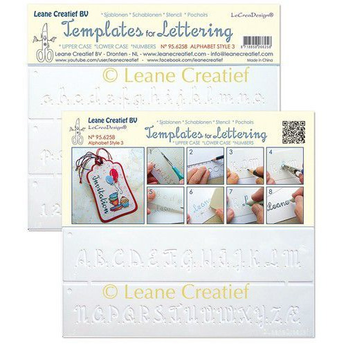 LeCrea - Templates for Handlettering Alfabet Nr. 3 95.6258 (01-20)