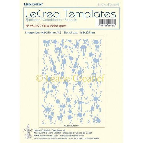 LeCrea - Stencil Olie & Verf spattten grootte design 95.6272 148x210mm (01-20)
