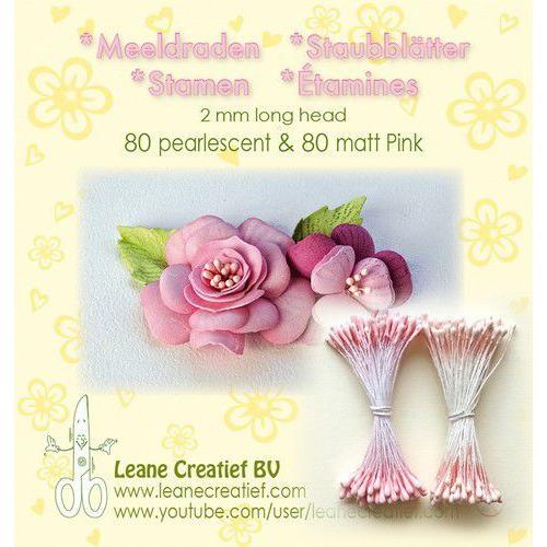 LeCrea - Meeldraden 2mm ±80 matt & 80 parel roze 26.6609 (01-20)
