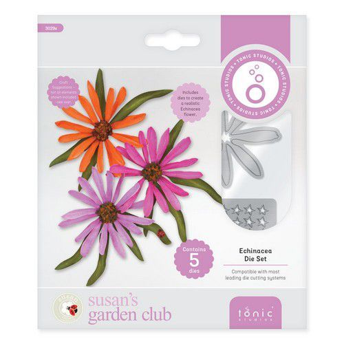 Tonic Studios Die  - Susans Garden Club - Echinacea 3029E (11-19)