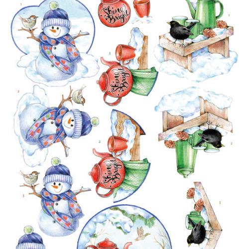 3D Knipvel -Jeanine's Art -Warm Winter