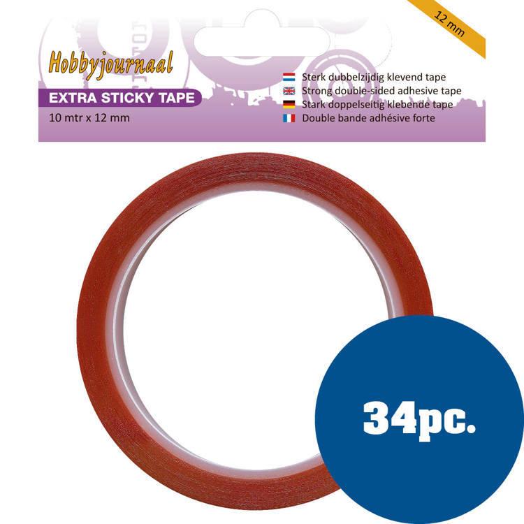 Hobbyjournaal - Extra Sticky Tape - 12 mm 34 stuks