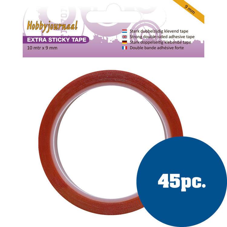 Hobbyjournaal - Extra Sticky Tape - 9 mm 45 stuks