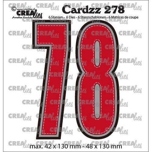 Crealies Cardzz no CLCZ278 Cijfers 7 en 8 CLCZ278 42x130 - 48x130 mm (12-19)