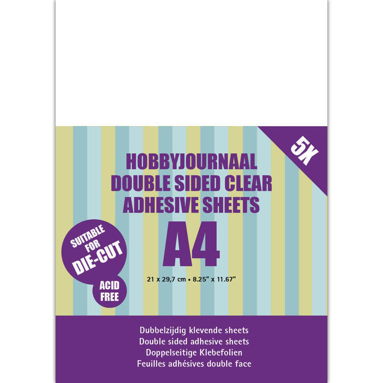 Hobbyjournaal Double sided clear adhesive sheets A4