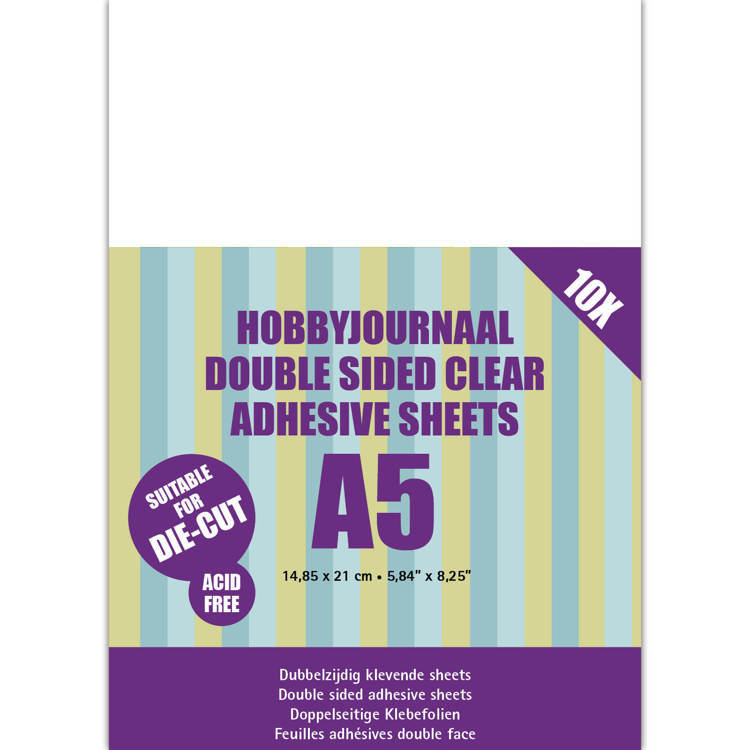 Hobbyjournaal Double sided clear adhesive sheets A5