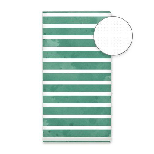 Piatek13 - Dot journal 04 Green stripes P13-DOT-04 (11-19)