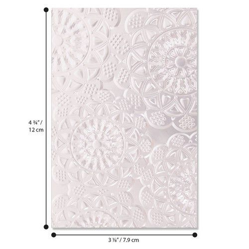Sizzix 3-D Textured Impressions Embossing Folder - Doily 662265 (01-20)