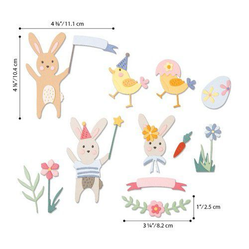 Sizzix Thinlits Die  Set - 23PK Easter Celebration 664357 Lisa Jones (01-20)