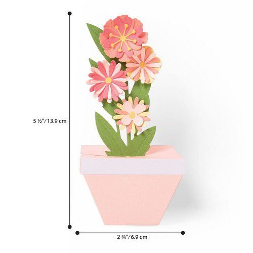 Sizzix Thinlits Die  Set - 9PK Pop-Up Plant Pot 664360 Georgie Evans (01-20)