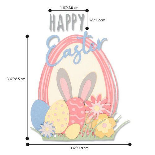 Sizzix Thinlits Die  Set - 18PK Easter Sentiments 664373 Emily Tootle (01-20)