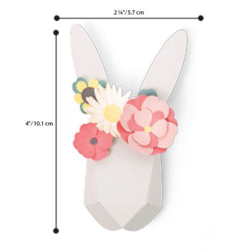 Sizzix Thinlits Die  Set - 8PK Origami Rabbit 664378 Olivia Rose (01-20)