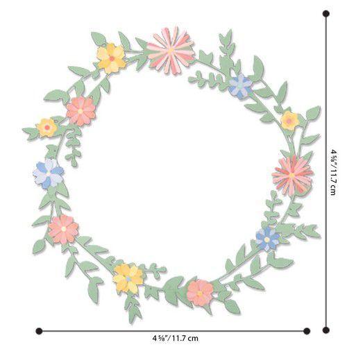 Sizzix Thinlits Die  Set - 9PK Spring Foliage 664380 Pete Hughes (01-20)