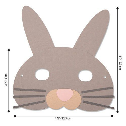 Sizzix Bigz L Die - Animal Mask 664386 Laura Kate (01-20)