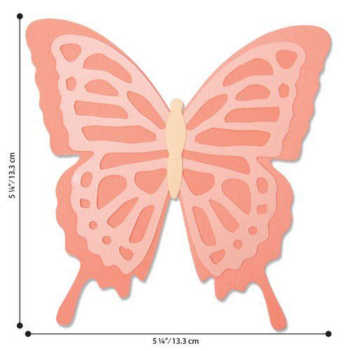 Sizzix Bigz Die - Layered Butterfly 664387 Jessica Scott (01-20)