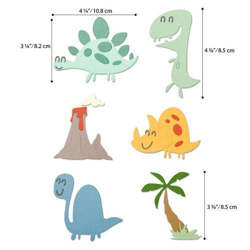 Sizzix Thinlits Die  Set - 9PK Dinosaurs 664393 Pete Hughes (01-20)