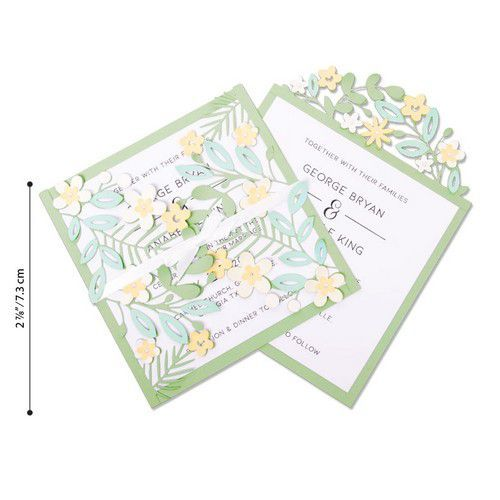 Sizzix Thinlits Die  Set - 9PK Floral Edges #2 664395 (01-20)