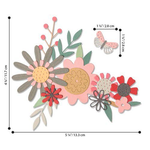 Sizzix Thinlits Die  Set - 17PK Bold Flora 664397 Sophie Guilar (01-20)