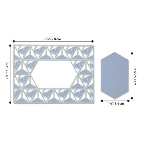 Sizzix Thinlits Die  Set - 2PK Geo Lattice Frame 664398 Jessica Scott (01-20)