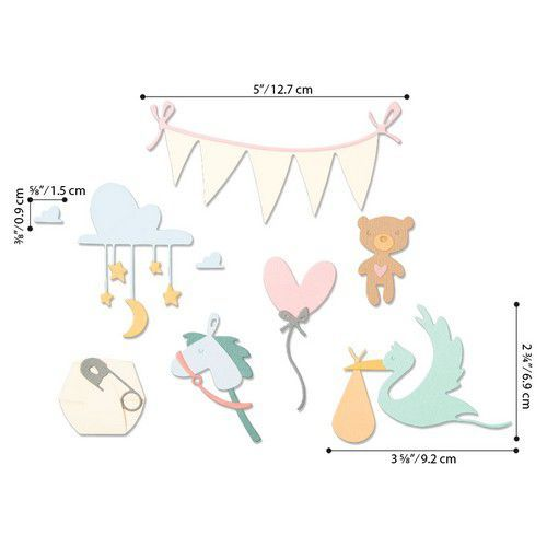 Sizzix Thinlits Die  Set - 11PK Lullaby 664399 Pete Hughes (01-20)