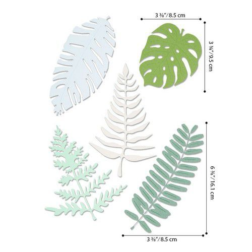 Sizzix Thinlits Plus Die Set 5PK - Large Tropicals 664402 Jenna Rushforth (01-20)