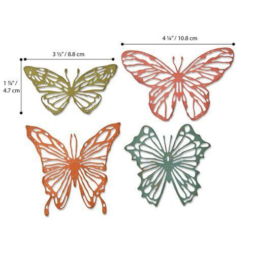 Sizzix Thinlits Die  Set - 4PK Scribbly Butterflies 664409 Tim Holtz (01-20)
