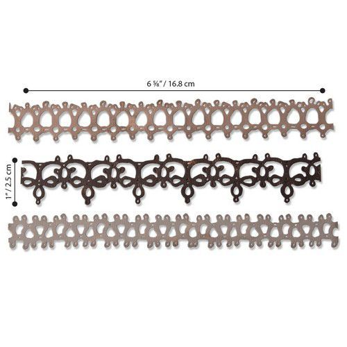 Sizzix Thinlits Die  Set - 3PK Crochet #2 664413 Tim Holtz (01-20)