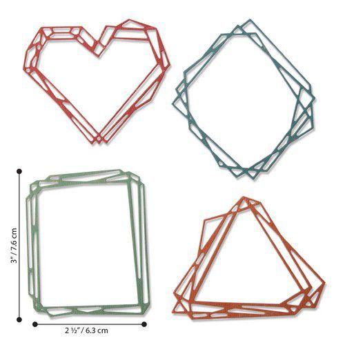 Sizzix Thinlits Die  Set - 4PK Geo Frames 664414 Tim Holtz (01-20)