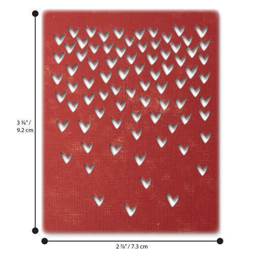 Sizzix Thinlits Die  Set - 4PK Falling Hearts 664415 Tim Holtz (01-20)