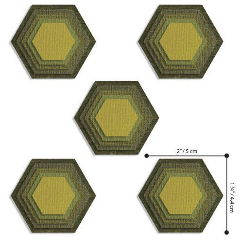 Sizzix Thinlits Die  Set - 25PK Stacked Tiles, Hexagons 664420 Tim Holtz (01-20)