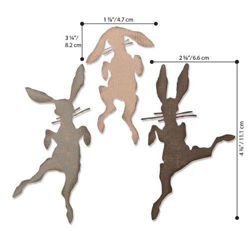 Sizzix Thinlits Die  Set - 3PK Bunny Hop 664421 Tim Holtz (01-20)