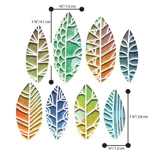 Sizzix Thinlits Die  Set - 8PK  Cut Out Leaves by Tim Holt 664431 Tim Holtz (01-20)