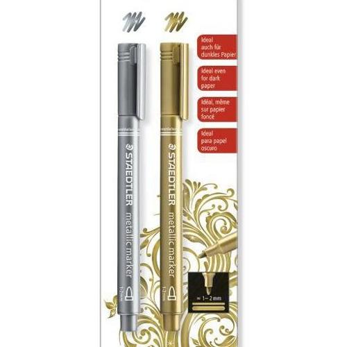 Staedtler metallic marker - Blister goud en zilver 8323-S BK2