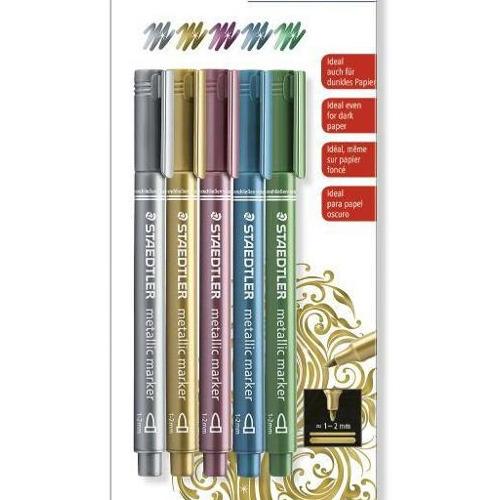 Staedtler metallic marker - Blister 5 kleuren 8323-S BK5