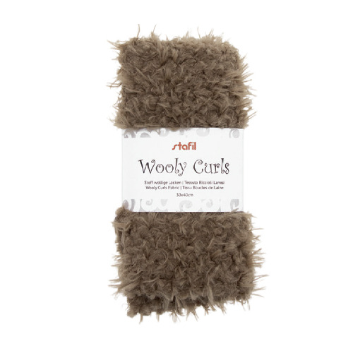 Wooly curls fabric, Brown