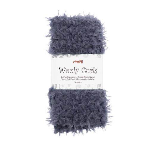 Wooly curls fabric, Grey