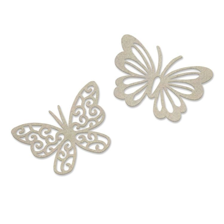 Dual Butterflies Chipboard Set (2pc)