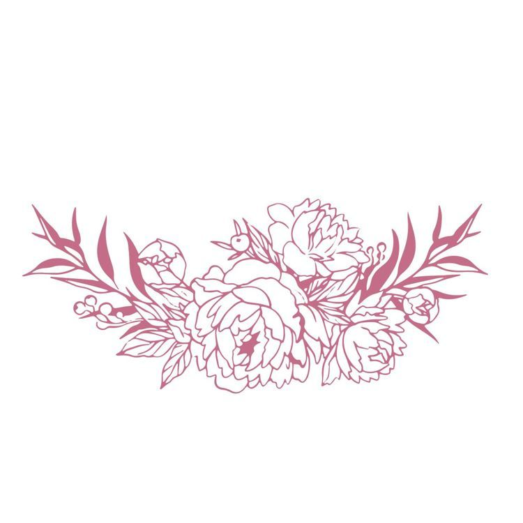 Bouquet Border Mini Stamp (1pc)
