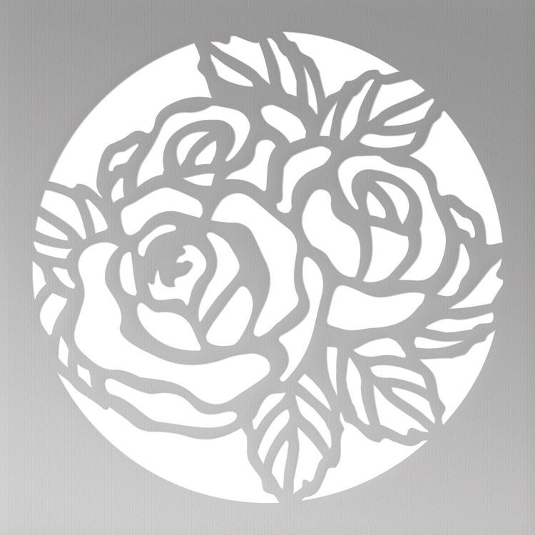 Floral Circle Mini Cutting Die (1pc)
