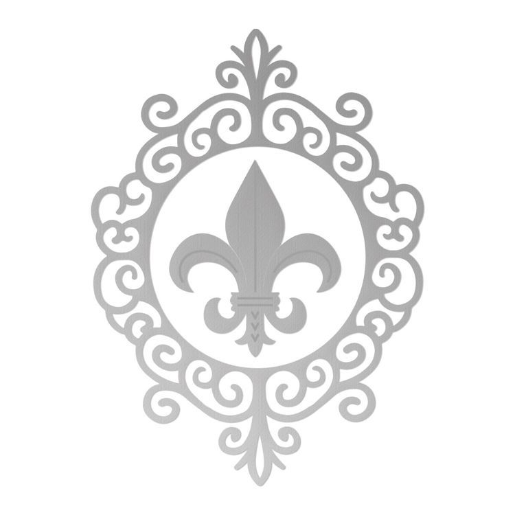 Framed Fleur De Lis Cutting Die Set (2pc)
